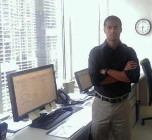 Karan Gupta at 77 West Wacker's Central Command Center