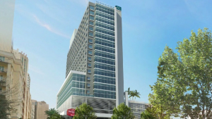 A rendering for a hotel proposed at 7400 S.W. 88th St. in Miami