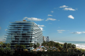 A rendering of the Fendi Chateau Residences in Miami. Agents for the development handed out brochures in Mandarin at the Beijing Luxury Property Show. —Venegas International Group