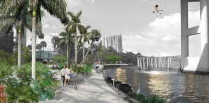 A rendering of the Miami River project