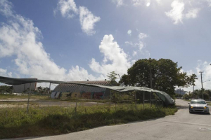 An abandoned heliport sits near the Miami Seaplane Base