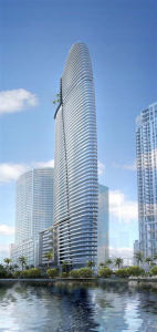 The condo at 300 Biscayne Boulevard Way in Miami would have 384 units,