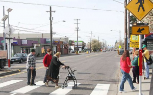 Portland, Oregon, is bike and pedestrian friendly with a network of light rail, buses and streetcars